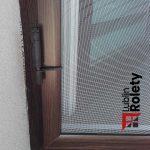 Moskitiery drzwiowe otwierane orzech